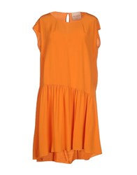 Erika Cavallini Semi Couture Erika Cavallini Semicouture Dresses Short Dresses Women Orange
