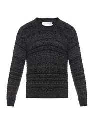 Gieves And Hawkes Woven Cashmere And Mohair Blend Sweater