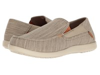 Crocs Santa Cruz Ii Luxe Slub Slip On Khaki Stucco Men's Slip On Shoes Beige