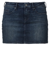 Edc By Esprit Denim Skirt Blue