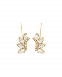 Lydell Nyc Mixed Crystal Crawler Earrings Golden