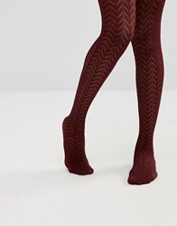Asos Pelerine Tights Burgundy Red