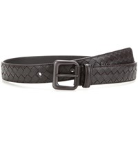 Bottega Veneta Intrecciato Leather Belt Brown