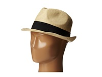 Michael Stars Pop Band Short Brim Panama Hat Black Caps