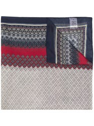Manuel Ritz Mixed Pattern Scarf Red