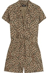A.P.C. Leopard Print Cotton Poplin Playsuit
