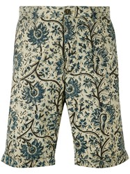Incotex Floral Print Bermudas Men Cotton 36 Nude Neutrals