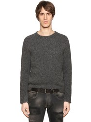 Etro Alpaca And Wool Raw Hem Knit Sweater