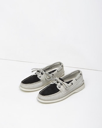 Band Of Outsiders X Sperry Two Tone Boat Shoe White Black