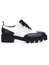 Mulberry Monochrome Lace Up Brogues Black