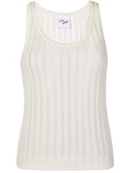 Michel Klein Sleeveless Knit Top White
