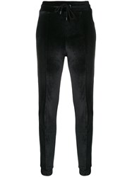 Marcelo Burlon County Of Milan Velvet Track Trousers Black