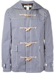 Comme Des Gara Ons Shirt 'Sailor' Coat Blue
