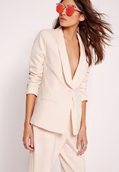 Missguided Tailored Blazer Nude Pink