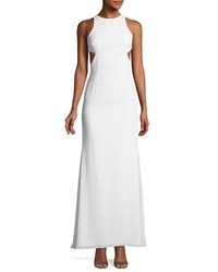 Fame And Partners The Midheaven Cutout Georgette Gown White