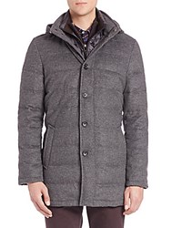 Saks Fifth Avenue Wool And Cashmere Quilted Jacket Grey