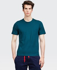 Aspesi Garment Dyed Japanese Cotton Jersey T Shirt English Green