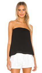 Krisa Split Back Strapless Top In Black.