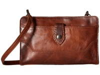 Frye Melissa Crossbody Clutch Cognac Cross Body Handbags Tan