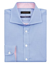 Jaeger Men's Hammerhead Weave Slim Shirt Blue
