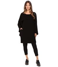 Limi Feu Cap Sleeve Cape Top Black