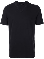 Neil Barrett Double V Neck T Shirt Black