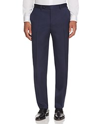 Canali Stretch Melange Twill Classic Fit Trousers Bright Blue