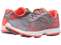 Ryka Devotion Plus 2 Frost Gre Cool Mist Grey Electric Coral Women's Shoes Gray