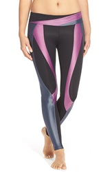 Koral 'Surge' Colorblock Leggings Smoke W Iris