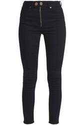 Sandro High Rise Skinny Jeans Black