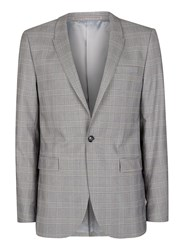 Topman Black And White Check Ultra Skinny Fit Suit Jacket