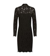 Set Long Sleeve Lace Dress Female Black