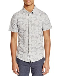 Native Youth Jacquard Camouflage Slim Fit Button Down Shirt Grey