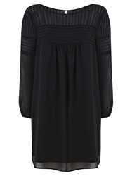 Mint Velvet Pintuck Swing Dress Black