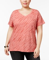 Style And Co Plus Size Cotton Snakeskin Print T Shirt Only At Macy's Pimpernell