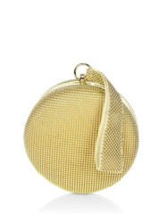 Whiting And Davis Canteen Mesh Wristlet Gold