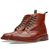 Trickers Tricker's Stow Brogue Derby Boot Marron Antique