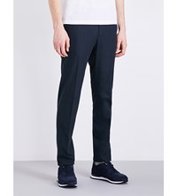 Slowear Icegab Slim Fit Tapered Stretch Cotton Trousers Navy