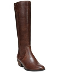 Dr. Scholl's Brilliance Wide Calf Tall Boots Women's Shoes Whiskey