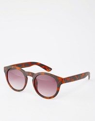 Monki Dora Sunglasses Matt Tortoise Black
