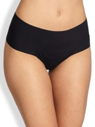Hanky Panky Godiva High Rise Thong Taupe Black