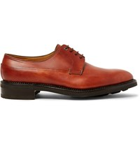 John Lobb Croft Panelled Leather Derby Shoes Brick