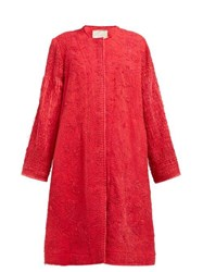 By Walid Tanita 19Th Century Silk Coat Red