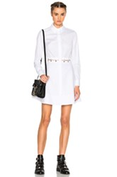 Alexander Wang Long Sleeve Shirt Dress In White