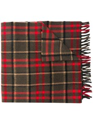 Gucci Checked Scarf Red