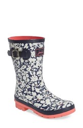 Joules Women's 'Molly' Rain Boot Navy Maroon Ditsy