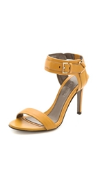 Jason Wu Leather Buckle Sandals Gold