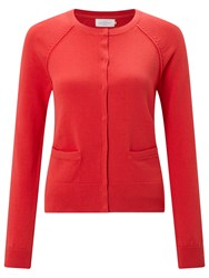 John Lewis Collection Weekend By Cotton Cardigan Red