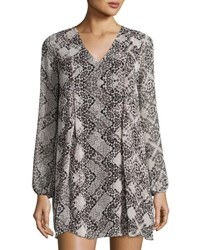 Bcbgeneration Graphic Print Woven Cocktail Dress Black Pattern
