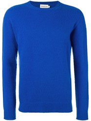 Moncler Classic Long Sleeve Jumper Blue